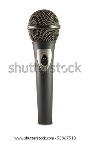 Microphone on White Background - stock photo