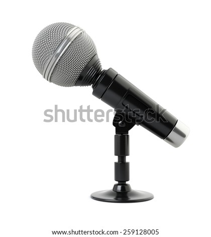 Microphone on white background. 3d render