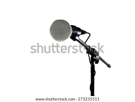 Microphone over white - stock photo