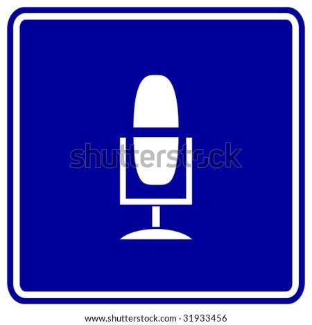 microphone sign - stock photo
