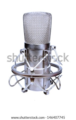 Microphone silver - stock photo