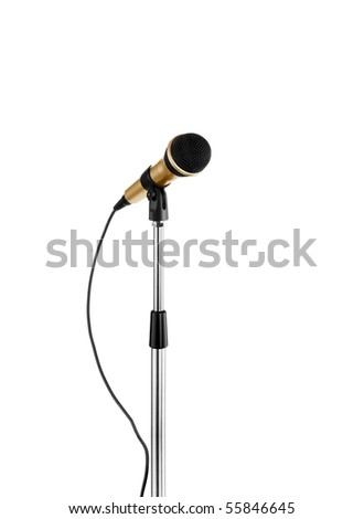 microphone standing - stock photo