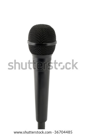 microphone studio isolated on white background. - stock photo