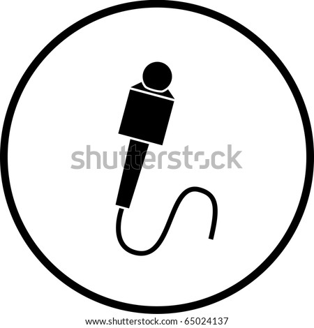 microphone symbol - stock photo