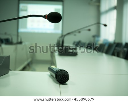 Microphones system in meeting room