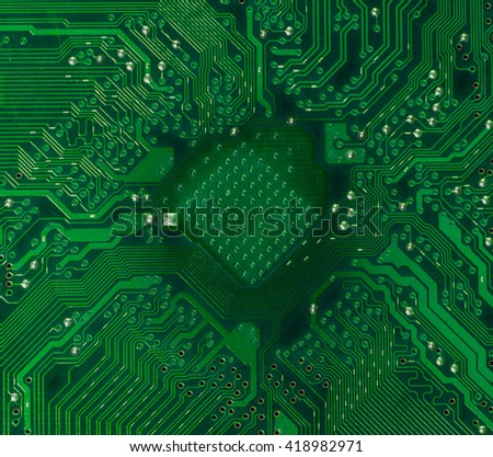 microprocessor socket on motherboard highly detailed - stock photo