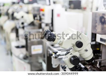 microscope for manufacturing  - stock photo