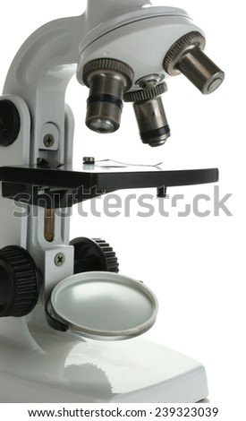 Microscope isolated on white