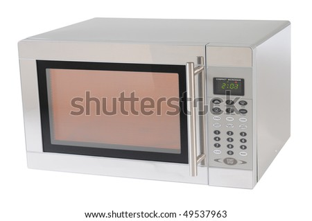 Microwave. Isolated - stock photo