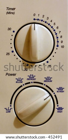 Microwave oven controls - stock photo