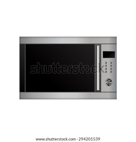 Microwave Oven. Illustration isolated on white background. Raster version