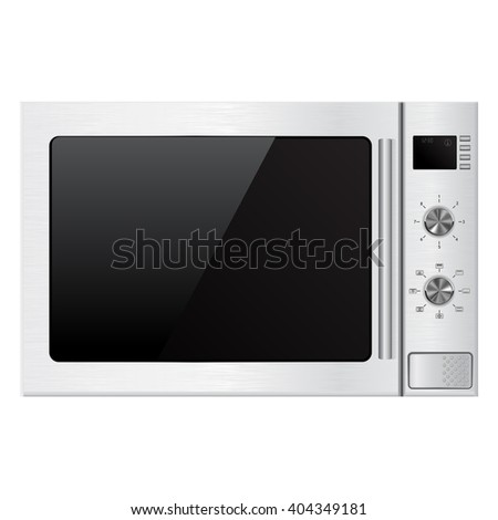 Microwave oven. Illustration isolated on white background. Raster version - stock photo