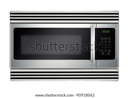 microwave oven isolated - stock photo