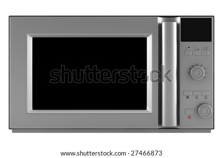 microwave oven isolated on white background. clipping path