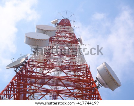 Microwave signal tower