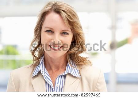 Mid age businesswoman - stock photo