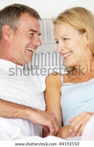Mid age couple in love - stock photo
