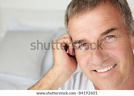 Mid age man head and shoulders - stock photo
