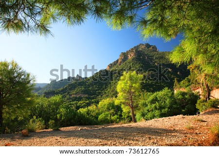 Middla Atlas Mountains landscape - stock photo