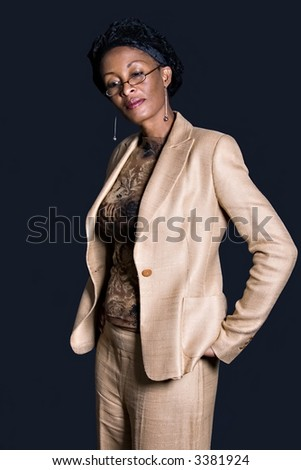 Middle age african businesswoman, people diversity series - stock photo
