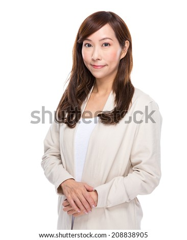 Middle age asian woman - stock photo