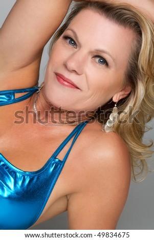 Middle Aged Beautiful Woman - stock photo
