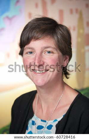Middle-aged business woman close-up portrait - stock photo