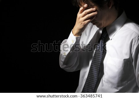 Middle-aged businessmen head - stock photo