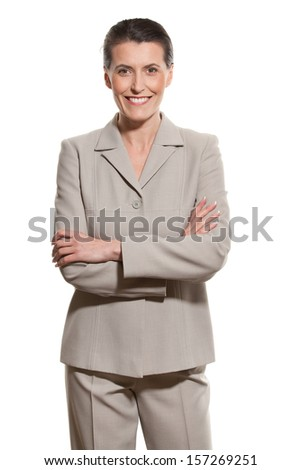 Middle-aged businesswoman - stock photo