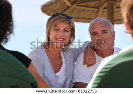 Middle-aged couple staying at resort