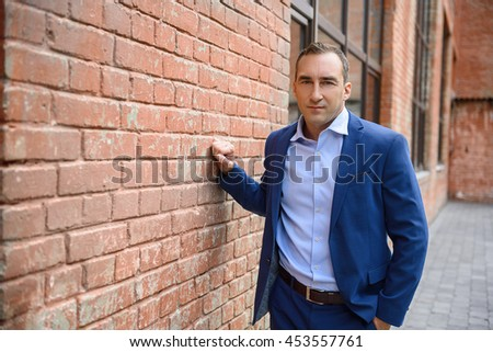Middle aged man expressing seriousness - stock photo
