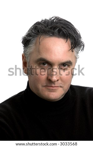 Middle aged man in casual clothes