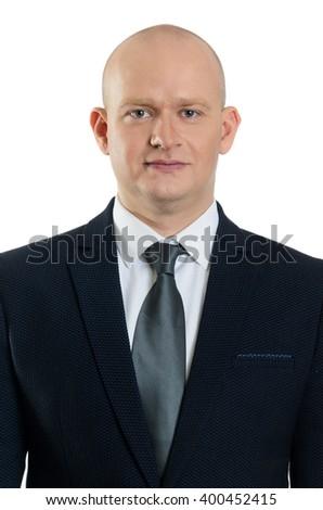 middle ages caucasian business man portrait - stock photo