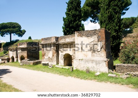 Middle ages ruins of circus of Maxentius or of Romulus, Via Appia Antica,Rome