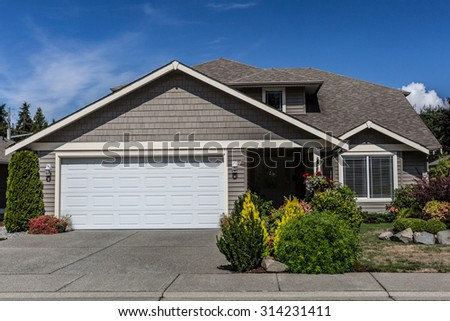 Middle Class home - stock photo