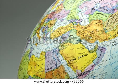 Middle east map - stock photo