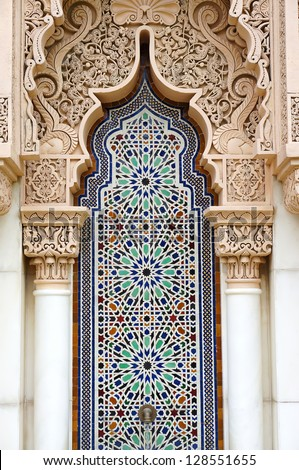 Middle east or Moroccan architecture traditional design - stock photo