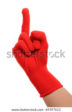 Middle finger hand gesture isolated on white background.
