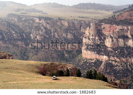 Middle Fork, Powder River Canyon - stock photo