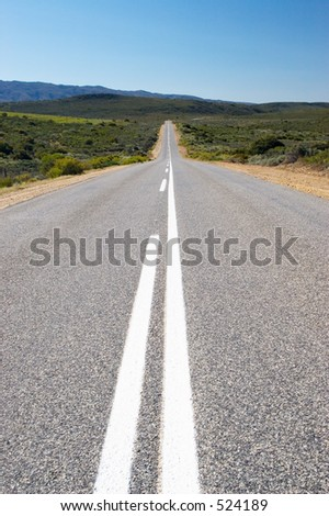 Middle of the road - stock photo
