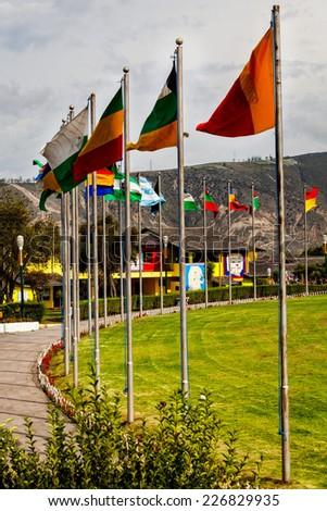 Middle of the world,  Mitad del Mundo, Equator, south america - stock photo