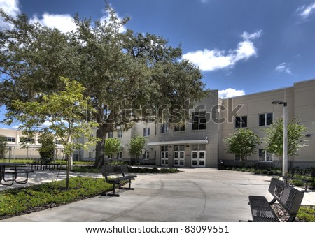 Middle School in Florida - stock photo