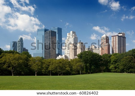 Midtown buildings from Central Park - stock photo