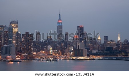 Midtown Manhattan in the Early Evening