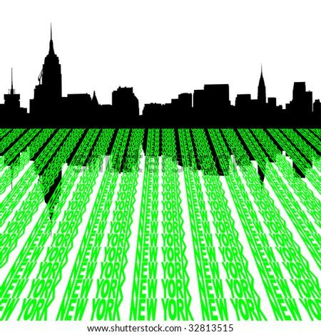 Midtown manhattan New York City skyline JPEG - stock photo