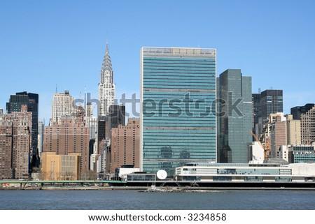 Midtown Manhattan skyline, New York City - stock photo