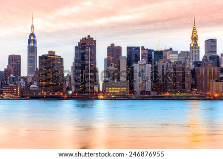 Midtown Manhattan skyline, New York City. USA. - stock photo