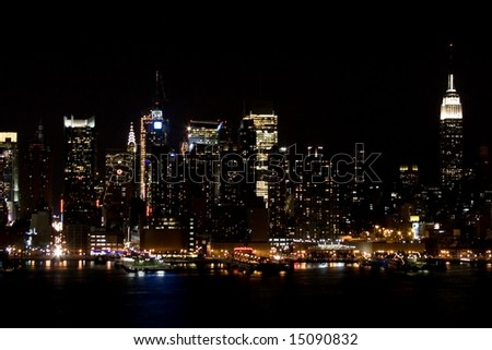 Midtown Manhattan taken at night
