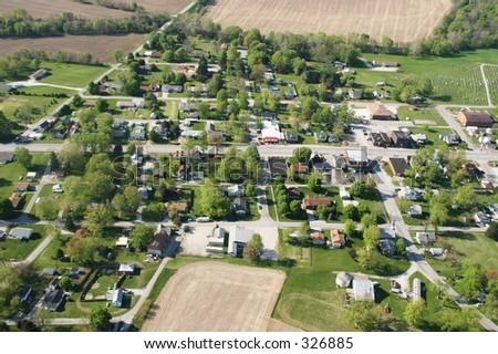 Midwest Town - stock photo