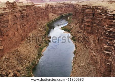 mighty Colorado river - stock photo